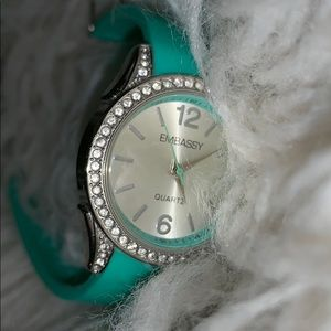 Embassy Watch W/ Teal Band